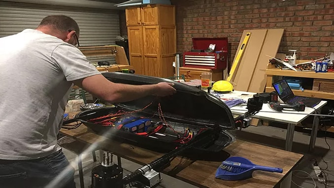 Leonard final checking the wiring before the ESC testing