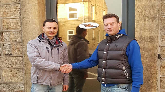 Kirill Shilov, CEO Sky-Drones, and Peter Opdam, CEO Clogworks, cementing their partnership.