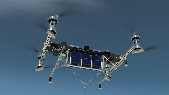 Boeing today unveiled a new unmanned electric vertical-takeoff-and-landing (eVTOL) cargo air vehicle