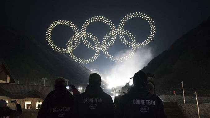 1,218Intel® Shooting Star™ drones made history for the Olympic Winter Games PyeongChang 2018