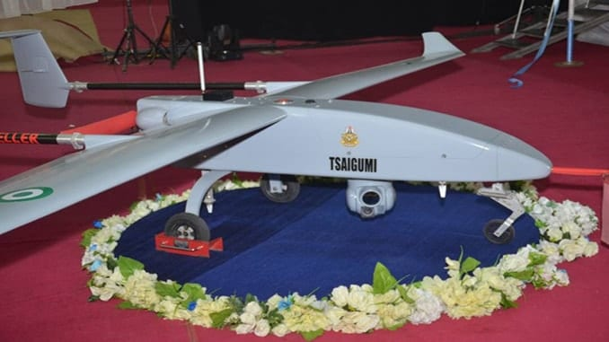 Nigeria Unveils First Indigenously Developed Unmanned Aerial Vehicle Named Tsaigumi