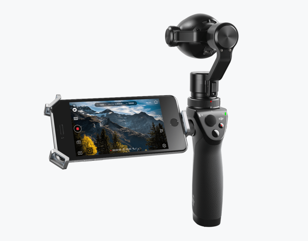 OSMO+ rear - with phone