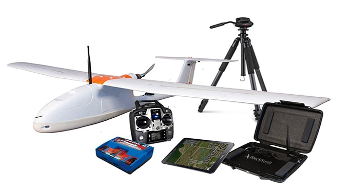 The SwiftTrainer UAS aerial mapping solution from Black Swift Technologies.