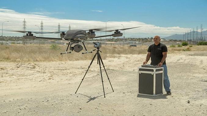 Airborne Drones On Patrol
