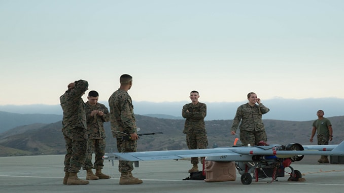 US Marines Use RQ-7 UAS In Support of wildlife survey On Camp Pendleton