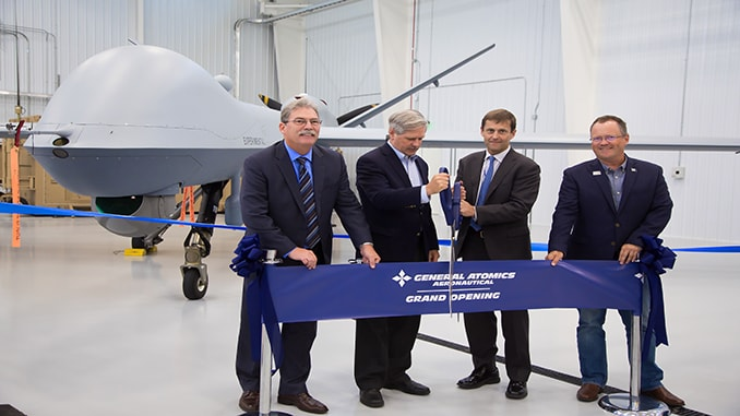 New Hangar Opens for GA-ASI's Flight Test and Training Center