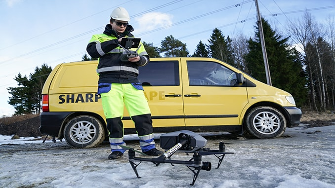 Sharper Shape Announces First UAS Based Automatic Detailed Inspection Service For Electric Utilities