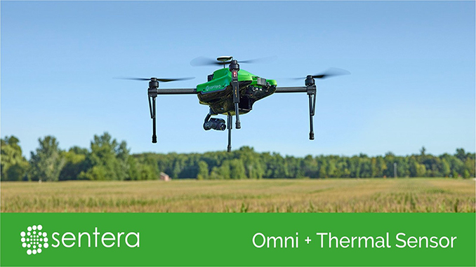 Sentera Omni drone offers simultaneous capture of thermal, NDVI, and high-resolution imagery