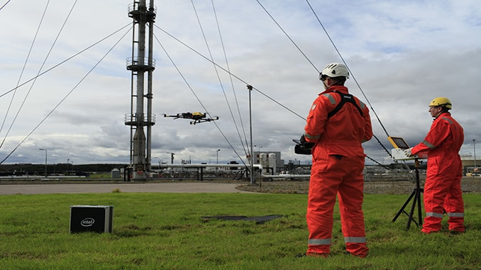 Intel and Cyberhawk Inspect Gas Terminal
