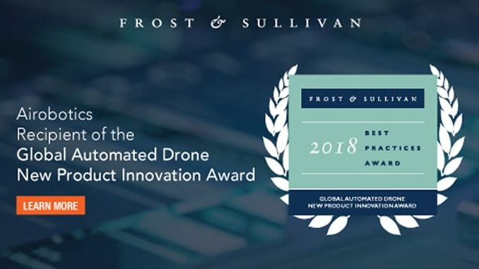 Frost & Sullivan Recognizes Airobotics with the Global New Product Innovation Award