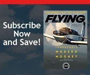 Flying mag banner