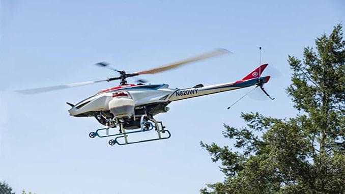 Yamaha FAZER remotely piloted helicopter receives FAA approval
