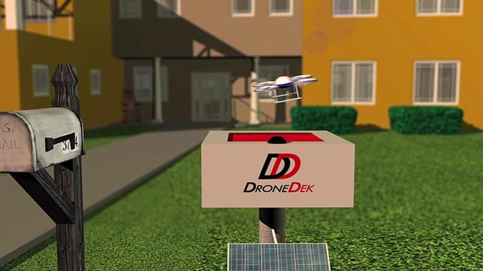 DroneDek, mailbox of the future technology