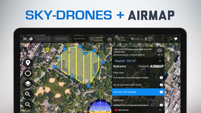 Sky-Drones integrates AirMap airspace services