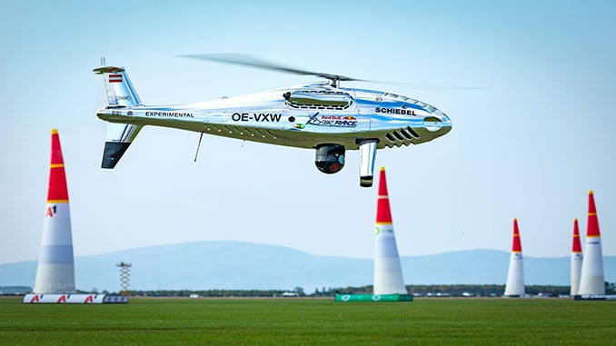 SCHIEBEL CAMCOPTER S-100 IMPRESSES WITH FLIGHT DISPLAY AT RED BULL AIR RACE