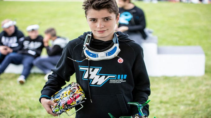 France's Killian Rousseau, 14, Wins The 2018 FAI Drone Racing World Cup