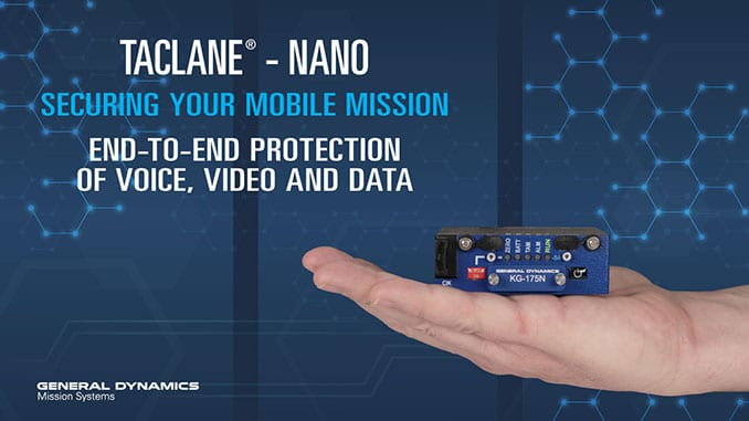 General Dynamics Mission Systems Demonstrates New Mobile Encryptor for Secure Voice, Video and Data
