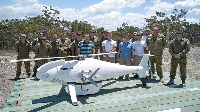 Schiebel CAMCOPTER® S-100 Successfully Demonstrates New Comint And Imaging Payloads To Australian Army
