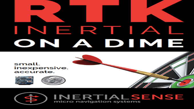 """Inertial Sense Releases RTK-INS """"On a Dime"""""""