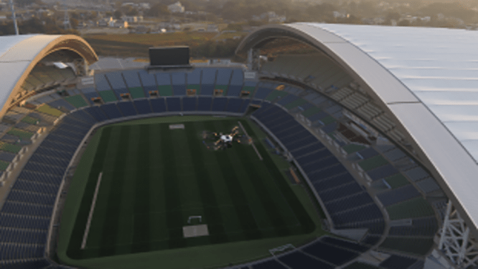 Japan's First Human Detecting Smart Drone Stadium Security