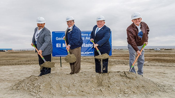 General Atomics Aeronautical Systems Breaks Ground on New Hangar in El Mirage