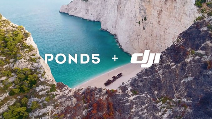 Pond5 and DJI Expand Premium Aerial Footage Collection with New Content from Professional Drone Pilots Around the World