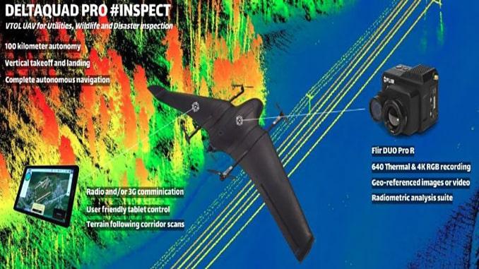 New VTOL UAV for Utilities, Wildlife and Disaster Inspection