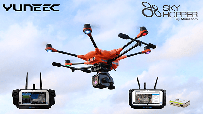 Yuneec and Mobilicom Form Strategic Partnership And Expose The H520 SkyHopper sUAS
