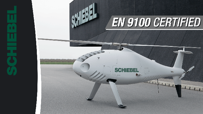 Schiebel was awarded the widely recognized EN 9100 certification