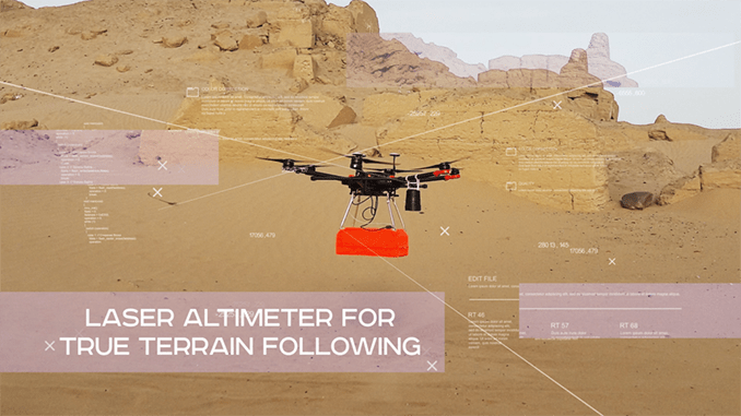 A new solution for UAS allows for accurate terrain following without the need to rely on map data.