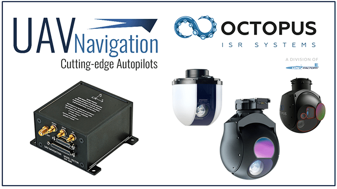 UAV Navigation provides precise telemetry data to OCTOPUS camera for a best performance
