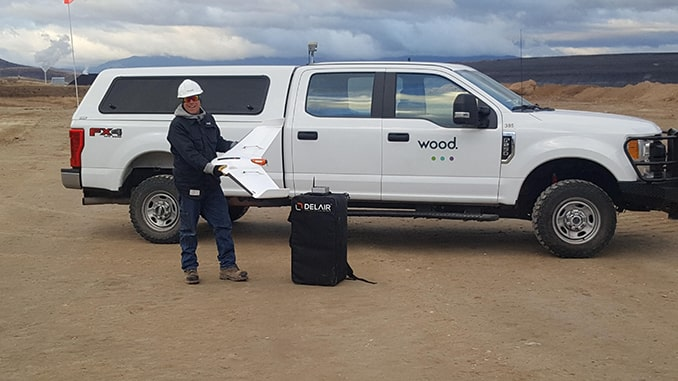 WOOD ADOPTS DELAIR UX11 UAV FOR LARGE SCALE SURVEYING AND QUANTITY MEASUREMENT FOR MINES, QUARRIES