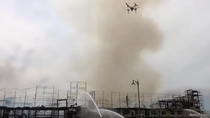 Impossible Aerospace US-1 Drone Responds to California Fire