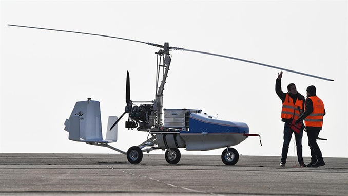 DLR Conducts Flight Tests Of It's Gyrocopter Unmanned System