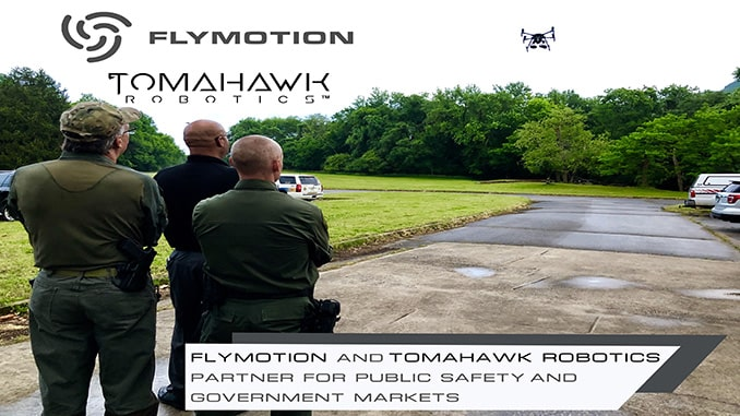 FLYMOTION and Tomahawk Robotics Partner to Bring Enterprise Class Robotic Control Solutions to the Public Safety and Government Market