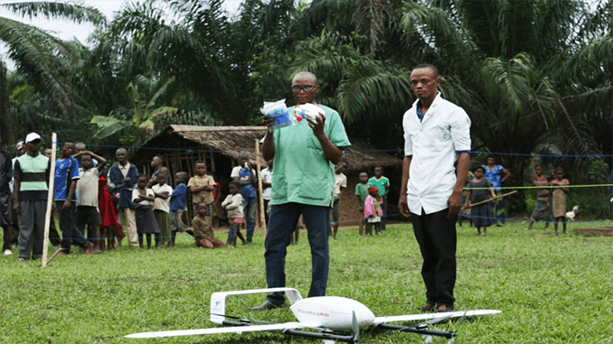 Drone Fleet Transports Vaccines to Immunize Children In The Democratic Republic Of Congo