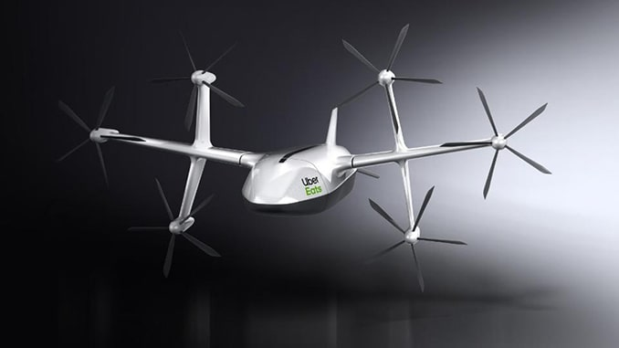 New Design Revealed For Uber Eats Delivery Drone