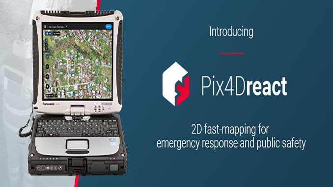 Pix4D Launches Pix4Dreact, A Revolutionary 2D Fast-mapping Software For EMS And Public Safety