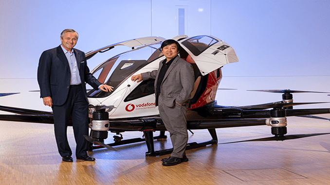 EHang And Vodafone To Collaborate On Urban Air Mobility