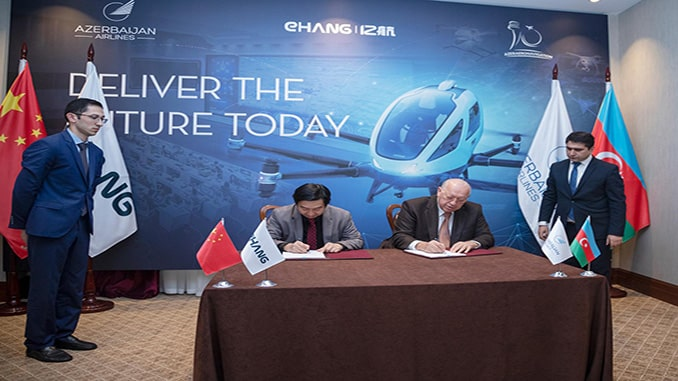EHang and Azerbaijan Airlines to Establish UAV Command-and-Control Center