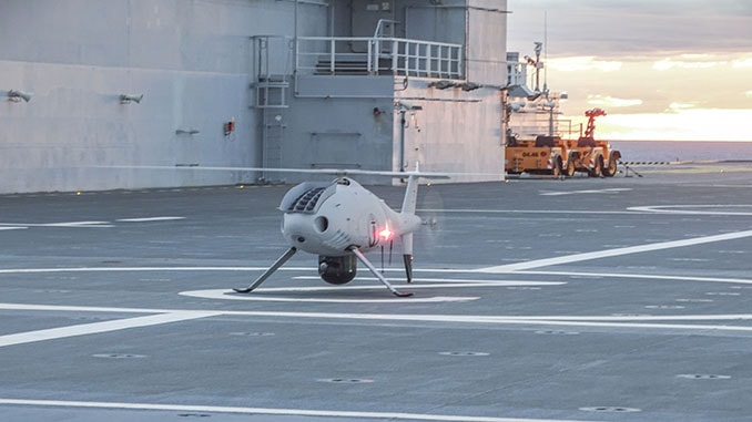 Schiebel Camcopter S-100 Fully Integrated to French Navy Ship Dixmude