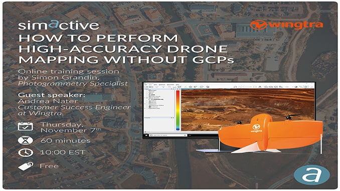 Simactive In Partnership With WINGTRA Are Hosting A Webinar  'How to Perform High-Accuracy Drone Mapping without GCPs'
