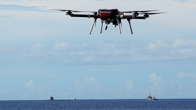 UH Researchers Assist Navy In Developing Drone Deliveries To Subs At Sea