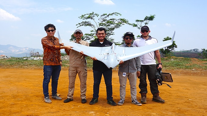 Terra Drone Indonesia Demonstrated Drone for Pipeline Monitoring to Medco Energi