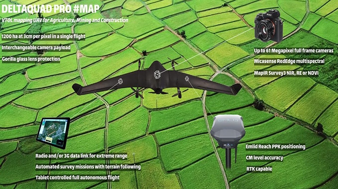 DeltaQuad First Mapping VTOL With 61 Megapixel Sensor