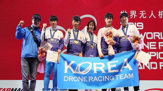 Korea flies to victory at the 2019 FAI World Drone Racing Championship Grand Final