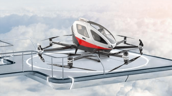 EHang Releases White Paper On Urban Air Mobility