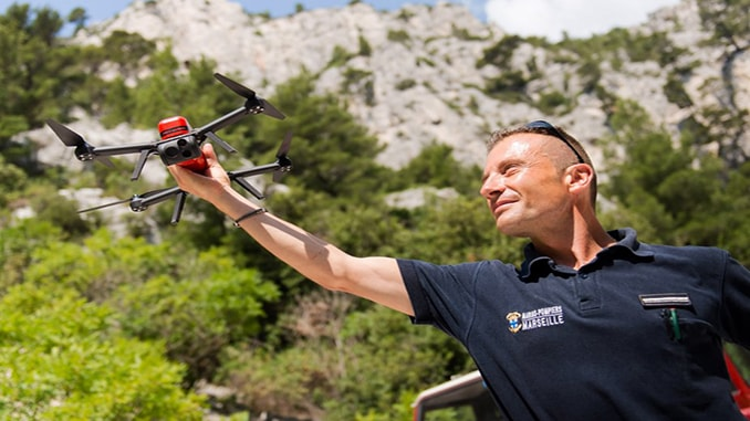 French Navy Firefighter Battalion Acquires Novadem NX70 Micro-UAVs