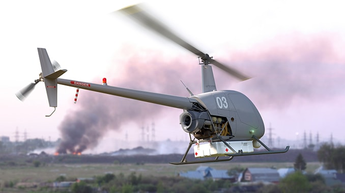 UAVOS's Robinson Unmanned Helicopter Extends Application Range