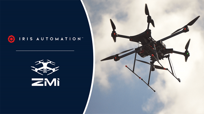 Iris Automation Selected As DAA Provider For ZM Interactive Drones